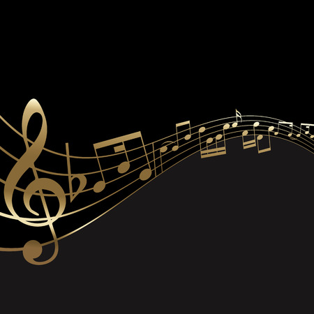 abstract music: Abstract background with a music notes background