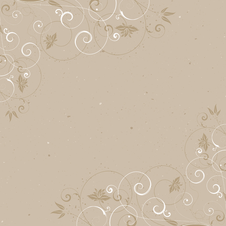 textured backgrounds: Vintage background with a decorative floral frame