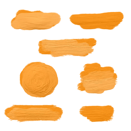 smears: Collection of gold acrylic paint smears