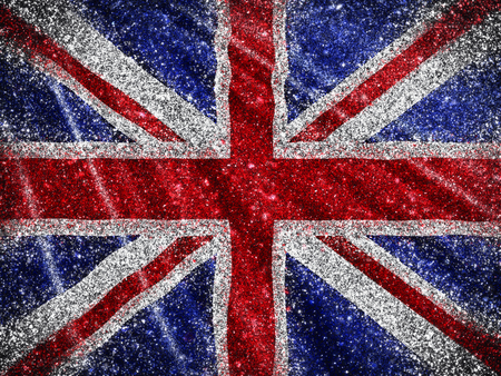 glittery: Union Jack Flag background with a glittery effect