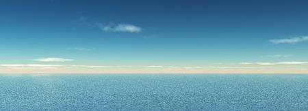 widescreen: 3D render of a widescreen ocean landscape