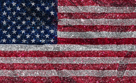 glittery: American flag with a glittery effect