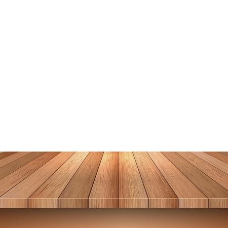 Vaciar plataforma de madera sobre un fondo blanco
