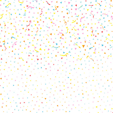 celebration background: Celebration background with confetti and streamers Stock Photo