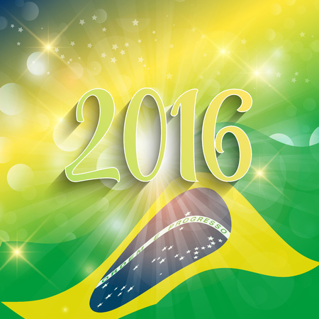 sporting event: Rio de Janeiro background with abstract flag design Stock Photo