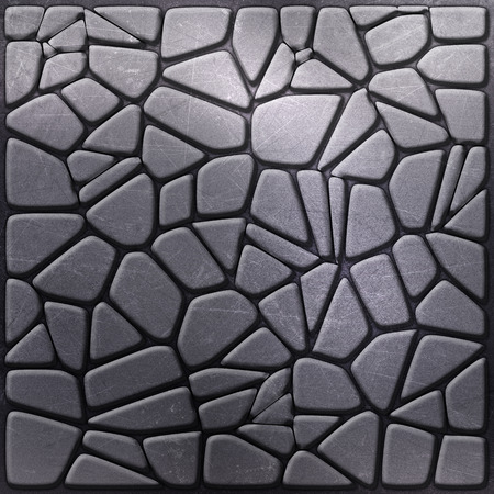 aluminium texture: Metallic background with pebble like shapes Stock Photo