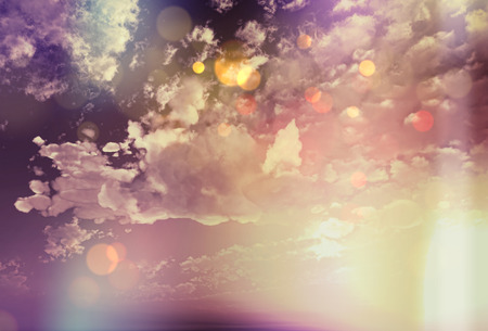 sky  dramatic: Dramatic image of a sunset sky with a vintage effect Stock Photo