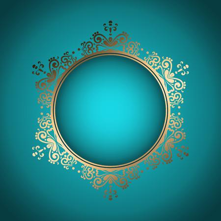 Decorative stylish background with golden frame
