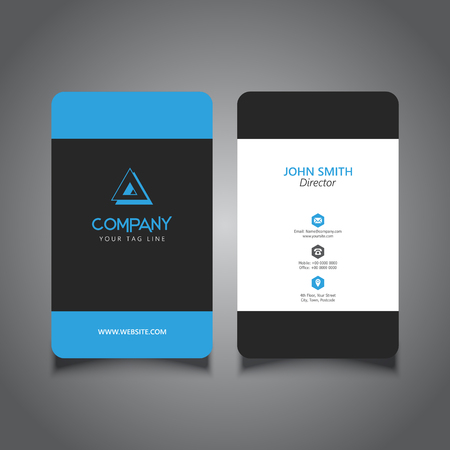 rounded: Rounded corner business card with a modern design
