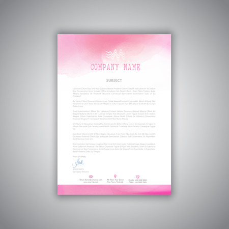 watercolour: Business letterhead with a watercolour design