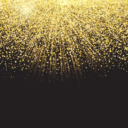glittery: Celebration background with golden confetti