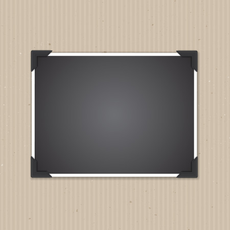 background frame: Blank photo frame on a cardboard texture background