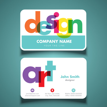 visiting card: Business card layout for artist or designer