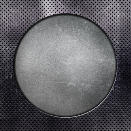 aluminium texture: Metallic background with circle cut out