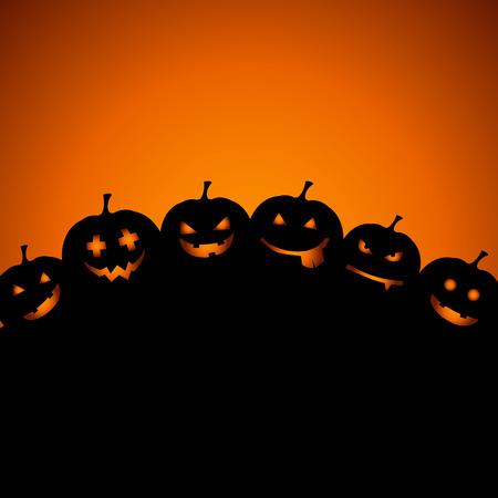 halloween background: Halloween background with pumpkins