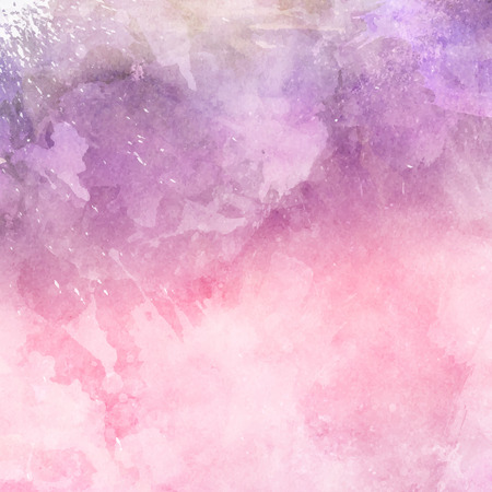Decorative watercolor background in shades of pink and purple 스톡 콘텐츠 - 63720091