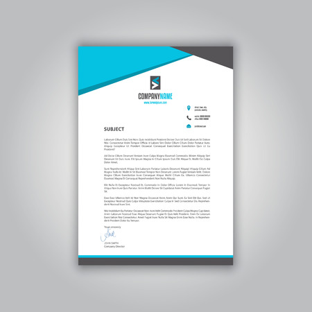business letterhead with a modern design stock photo 63720258