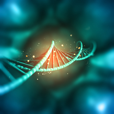 3D render of a medical background with DNA strand