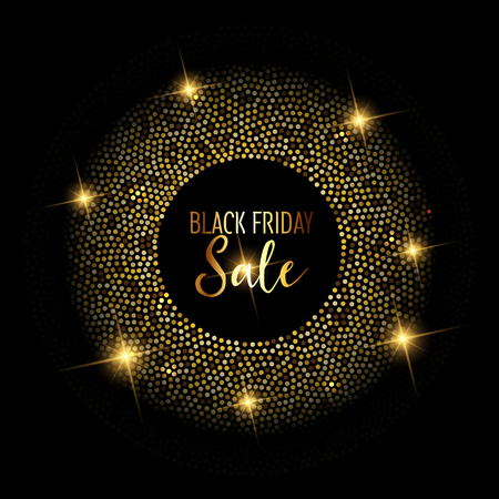 Black Friday sale background with glittery design