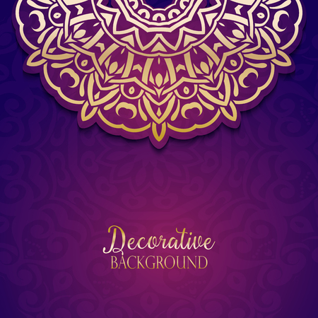 background purple: Decorative gold and purple background
