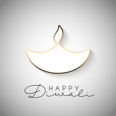 Diwali celebration background with burning lamp design
