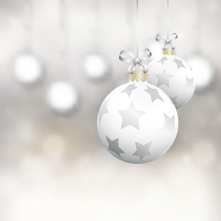 baubles: Christmas  background with hanging baubles