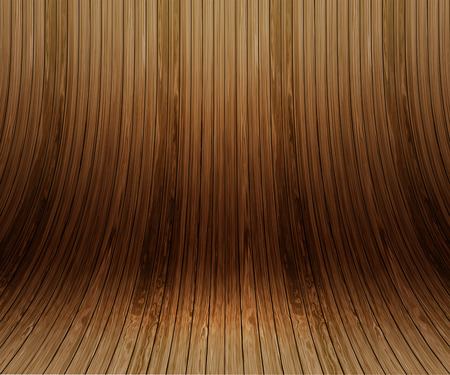 planks: Modern display background of curved wooden planks Stock Photo