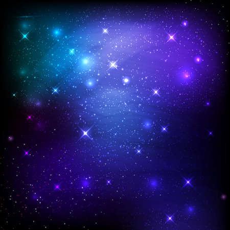 galaxies: Night sky space background with stars and galaxies