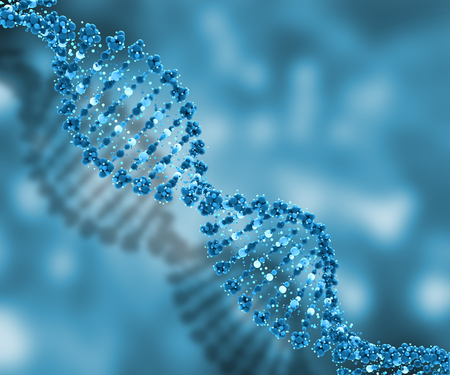 microcosmic: 3D render of a medical background with DNA strands Stock Photo