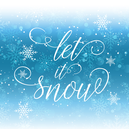 let it snow: Christmas background with let it snow wording