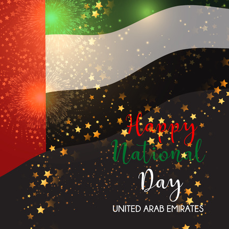 abudhabi: Decorative background for United Arab Emirates National Day celebration Stock Photo