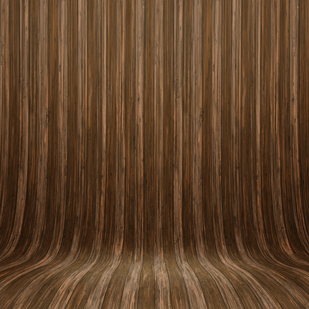 wood room: Curved wooden wall - ideal for display Stock Photo