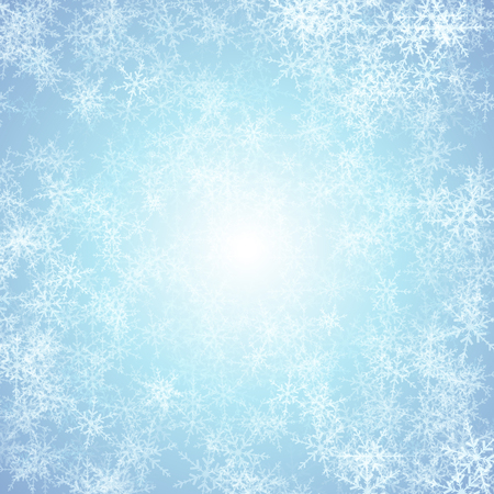 icicle: Christmas snowflake background with ice effect