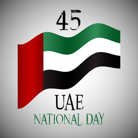 45th: Decorative background for United Arab Emirates National Day celebration Stock Photo