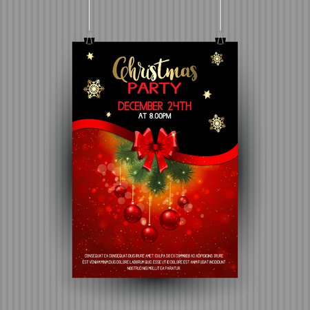 Decorative design for a Christmas party flyer