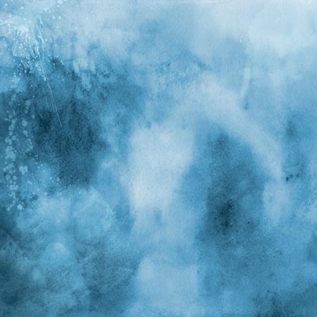 Blue coloured watercolour texture background