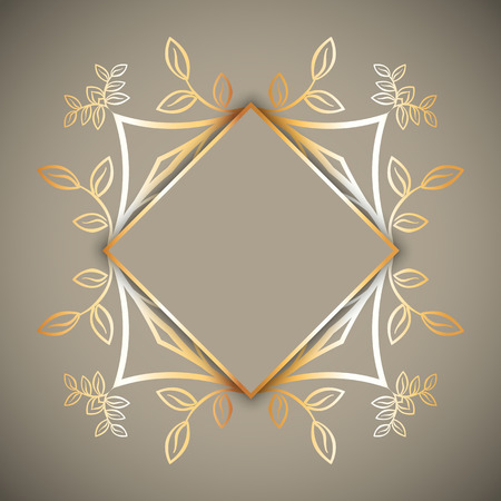 Decorative background with gold frame Stock Photo
