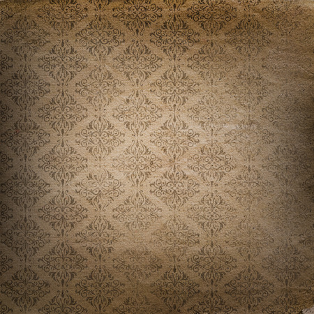 Grunge style background with a Damask pattern