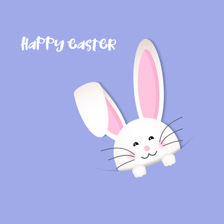 cute background: Easter background with cute bunny  Stock Photo