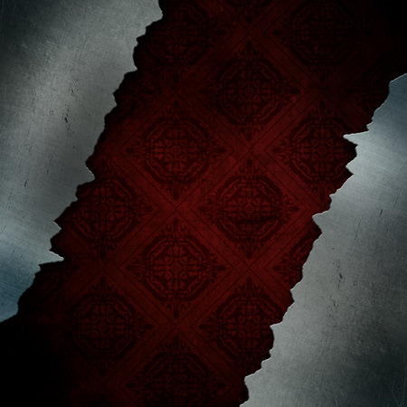 aluminium texture: Grunge style cracked metal background with vintage pattern design
