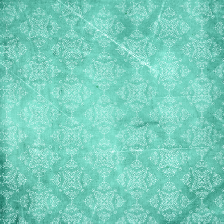 Grunge paper background with decorative pattern Stock Photo