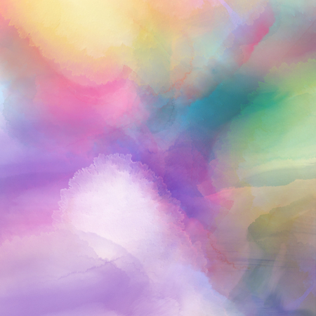 watercolour painting: Colourful background with a watercolour texture Stock Photo