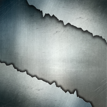 torn metal: Grunge style cracked metal background Stock Photo