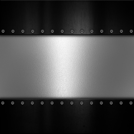 aluminium: Metal plate texture background with rivets