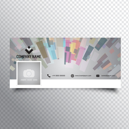 facebook: Social media timeline cover with abstract design