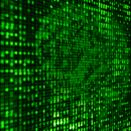 programming code: 3D programming background with abstract binary code Stock Photo