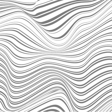 ゆがんだラインの抽象的な背景 写真素材