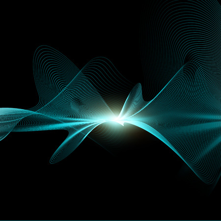 Abstract background with flowing waves design