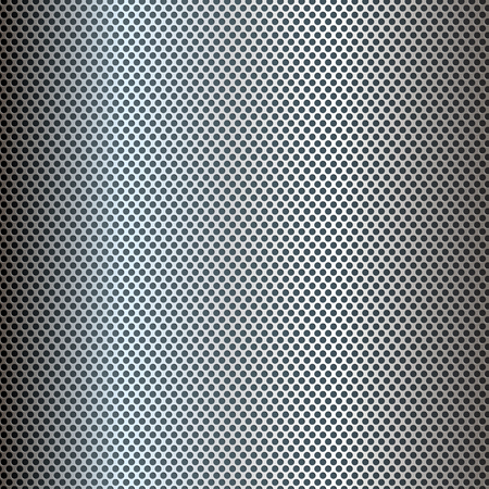 Silver perforated metal texture background Banco de Imagens