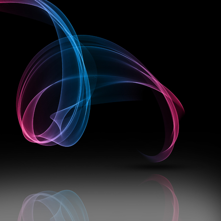Abstract background of silky flowing lines